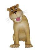 Lejonet behandla som ett barn Royaltyfri Fotografi