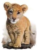 Lejonet behandla som ett barn vektor illustrationer