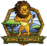 Lejonet - konung av djungeln stock illustrationer