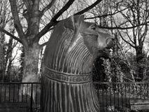 Lejonet lejonstatyhuvudet Royaltyfri Bild