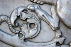Lejonet tafsar Konung Cannon i MoskvaKreml Arkivfoto