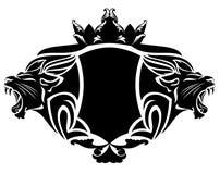 Lejonheraldik Royaltyfria Bilder