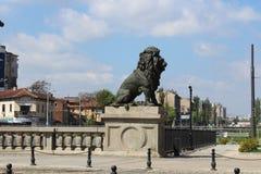 Lejons bro Sofia Bulgaria royaltyfri fotografi