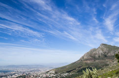 Lejons huvud vid dagen, Cape Town, Sydafrika Fotografering för Bildbyråer