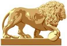 Lejonskulptur Royaltyfri Fotografi