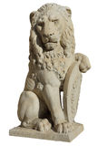 Lejonstaty från Florence som isoleras Arkivfoto