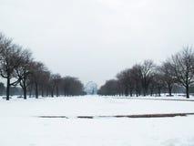 Lejos globo en tormenta de la nieve imagen de archivo