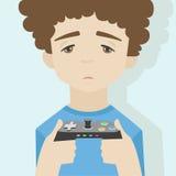 Lek över pojkelägenhetillustration Arkivbilder