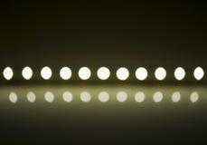 Lek av ljus på defocusing suddighet ledde lampor Arkivfoton