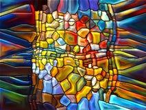 Lek av målat glass Arkivfoto