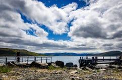 Lek av moln och solen Fotografering för Bildbyråer