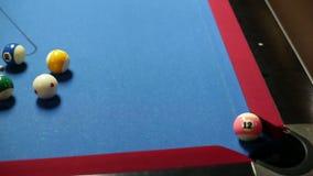 Lek av pölen, sjunkande boll lager videofilmer