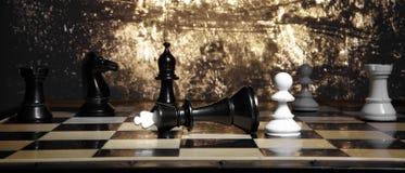 Lek av schack Fotografering för Bildbyråer