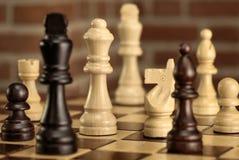 Lek av schacket fotografering för bildbyråer