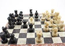 Lek av schacket arkivfoto