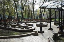 Lek-fält i parkera av Taras Shevchenko i den Kyiv staden Arkivfoton