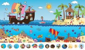 Lek för barn Fotografering för Bildbyråer