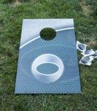 Lek för hål för grön havre för Aqua arkivfoto