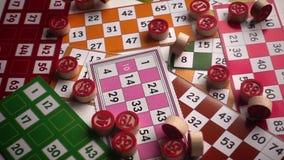 Lek för lottoBingotombola stock video