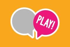 Lek för textteckenvisning Det begreppsmässiga fotoet kopplar in i aktivitet för njutning och rekreation som har roliga vänner vektor illustrationer