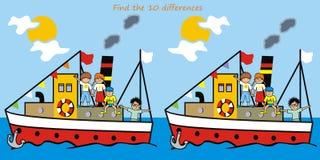Lek - fynd tio skillnader Arkivbild