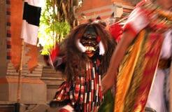 Lek, iets mythologisch verhaal in Balinese cultuur royalty-vrije stock fotografie