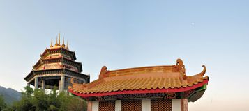 Lek Kok Si Buddhist temple above Penang, Malaysia Royalty Free Stock Photography