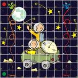 Lek - kosmos royaltyfri illustrationer