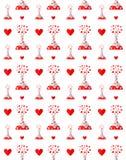 Lek miłość wzór Obrazy Royalty Free