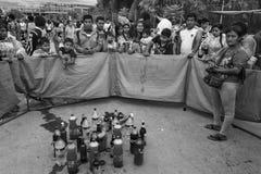 Lek på Carnaval Tarija Arkivfoton