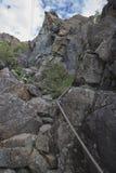 Lek wyspa, Norwegia, wycieczkuje jama Zdjęcia Stock