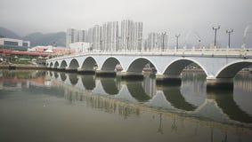 LEK Yuen Bridge κάτω από το φτωχό καιρό στοκ φωτογραφία με δικαίωμα ελεύθερης χρήσης