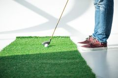 leka barn för golfman Fotografering för Bildbyråer