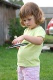 leka för badminton Arkivfoto