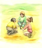 leka för barn royaltyfri illustrationer