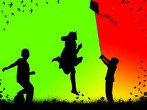 leka för barn Arkivbilder