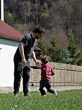 leka för barnfader Royaltyfria Foton