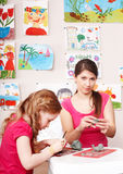 leka för barnleramoder Royaltyfria Bilder