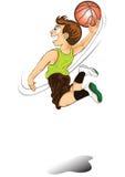 leka för basketpojketecknad film stock illustrationer