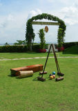 leka för borneo croquetutrustning Arkivbilder