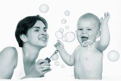 leka för bubblor Arkivbild
