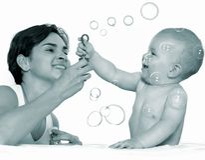 leka för bubblor Arkivfoton
