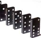 leka för domino Arkivfoton