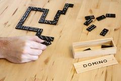 leka för dominolek arkivfoto