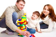Leka för familj Arkivfoto