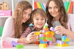 leka för familjlek Arkivbild