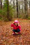 leka för flicka Arkivfoto