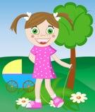 leka för flicka vektor illustrationer