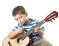 leka för gitarr Arkivfoton