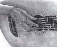 leka för gitarr royaltyfri illustrationer